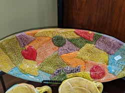 Sweet Tea Pottery Mosaic Cheese Tray