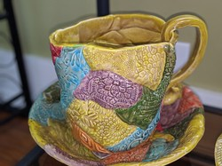 Sweet Tea Pottery Mosaic Pitcher